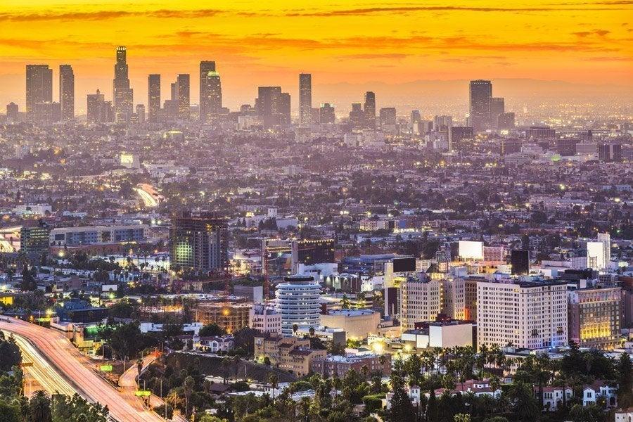 Los Ángeles desde Mulholland