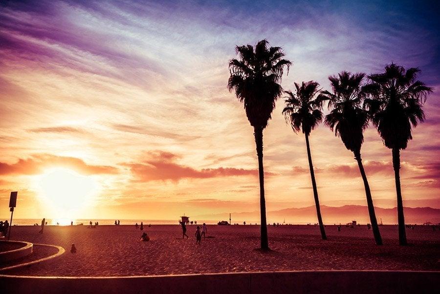 Venice Beach al atardecer