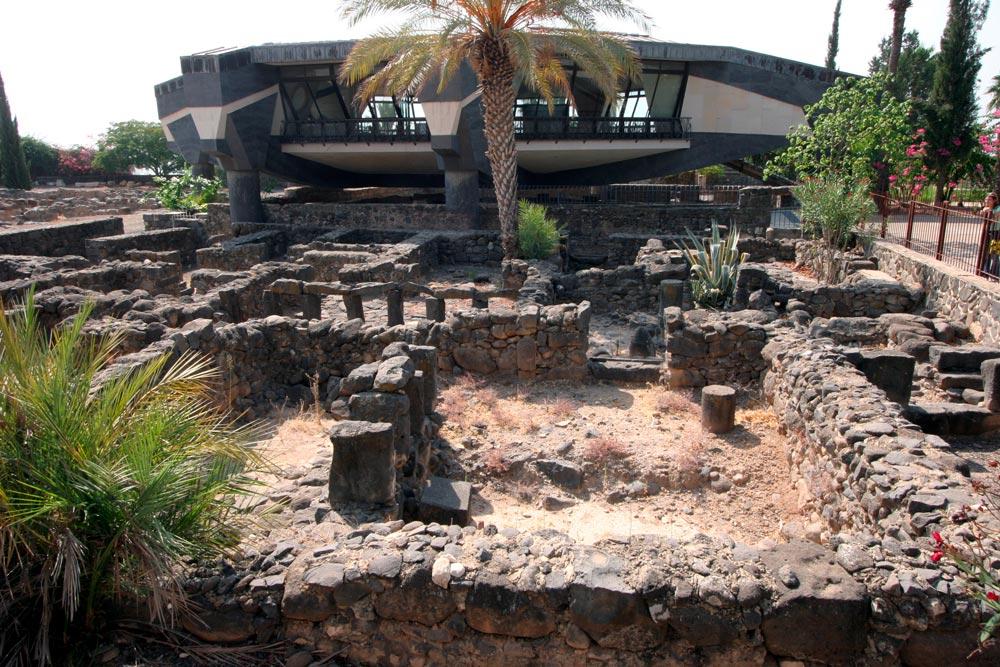 Antigua casa de San Pedro en Cafarnaún