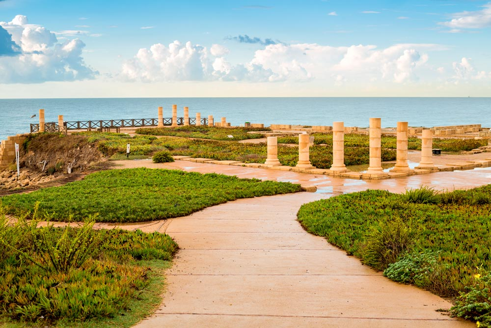 Ruinas de la ciudad romana de Cesarea
