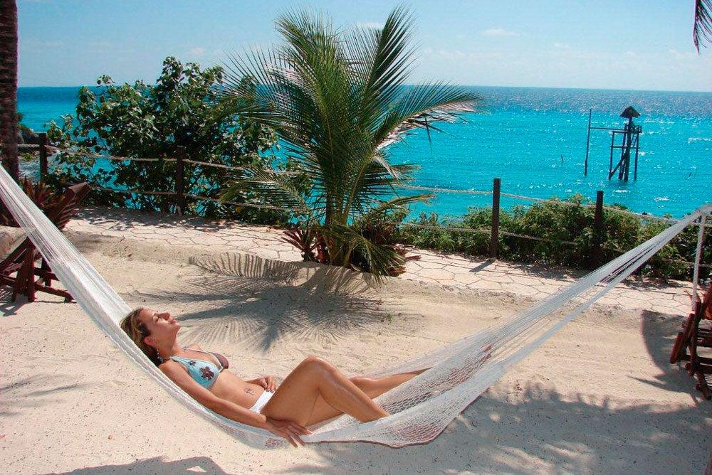 Disfrutando de la tranquilidad de Isla Mujeres