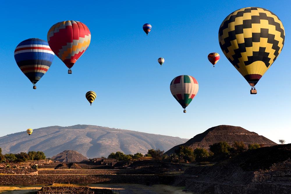 Sobrevolando el Valle de Teotihuacán
