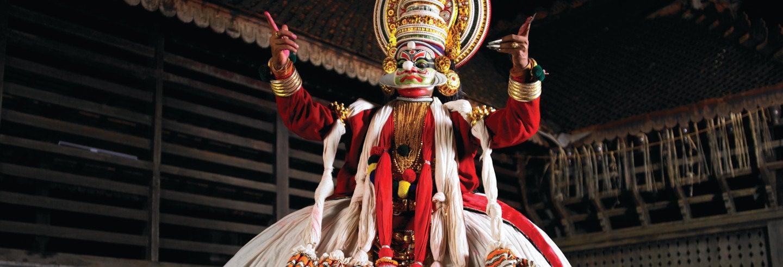 Espetáculo de dança Kathakali