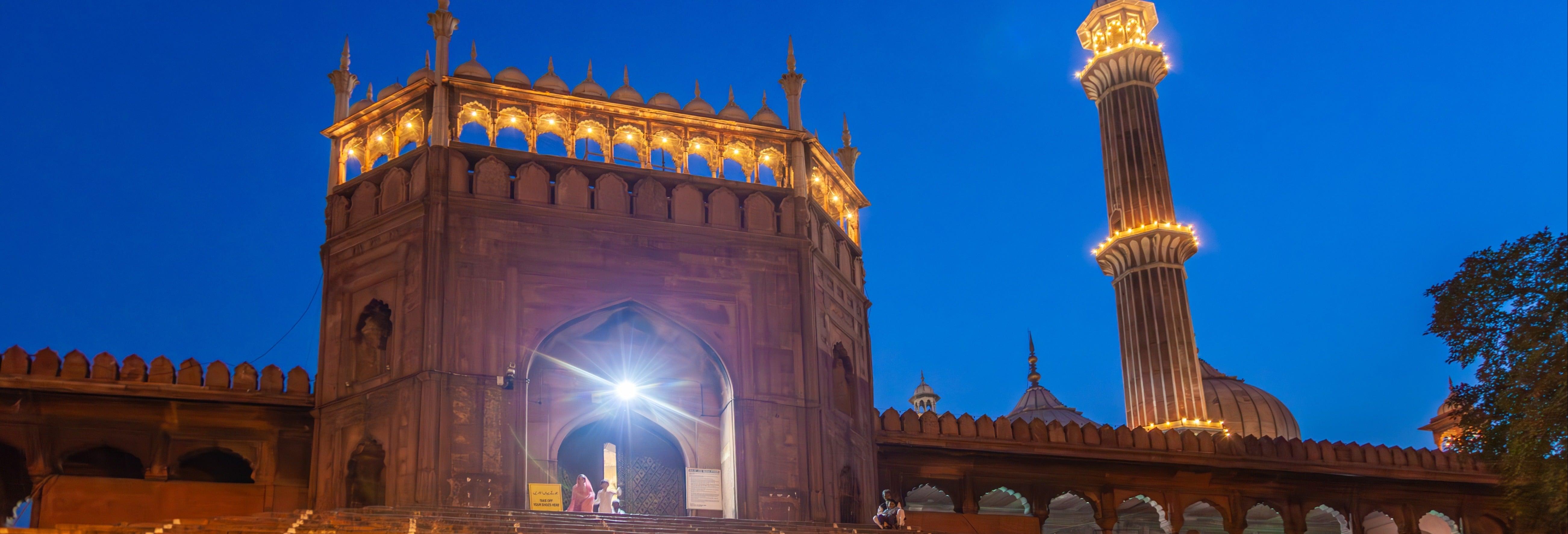 Visite nocturne dans Delhi à vélo