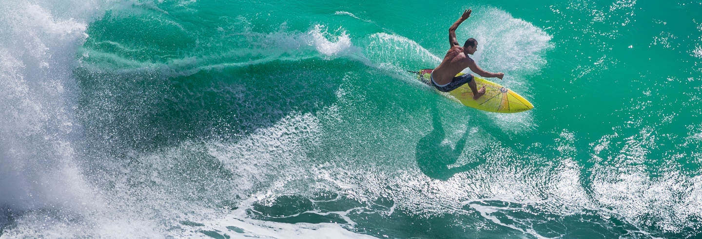 Curso de surfe de 3 dias + Yoga em Nusa Lembongan