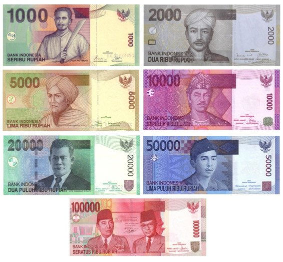 Billetes de Rupia Indonesia