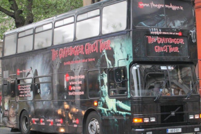 ,Tour por Dublin,Tour en autobús,Bus turístico,Bus Fantasma