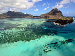 Sobrevolando Isla Mauricio