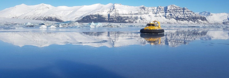 Tour de la lagune glaciaire de Jökulsárlón en aéroglisseur