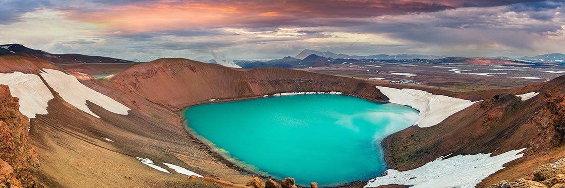 Lago Mývatn e leste da Islândia