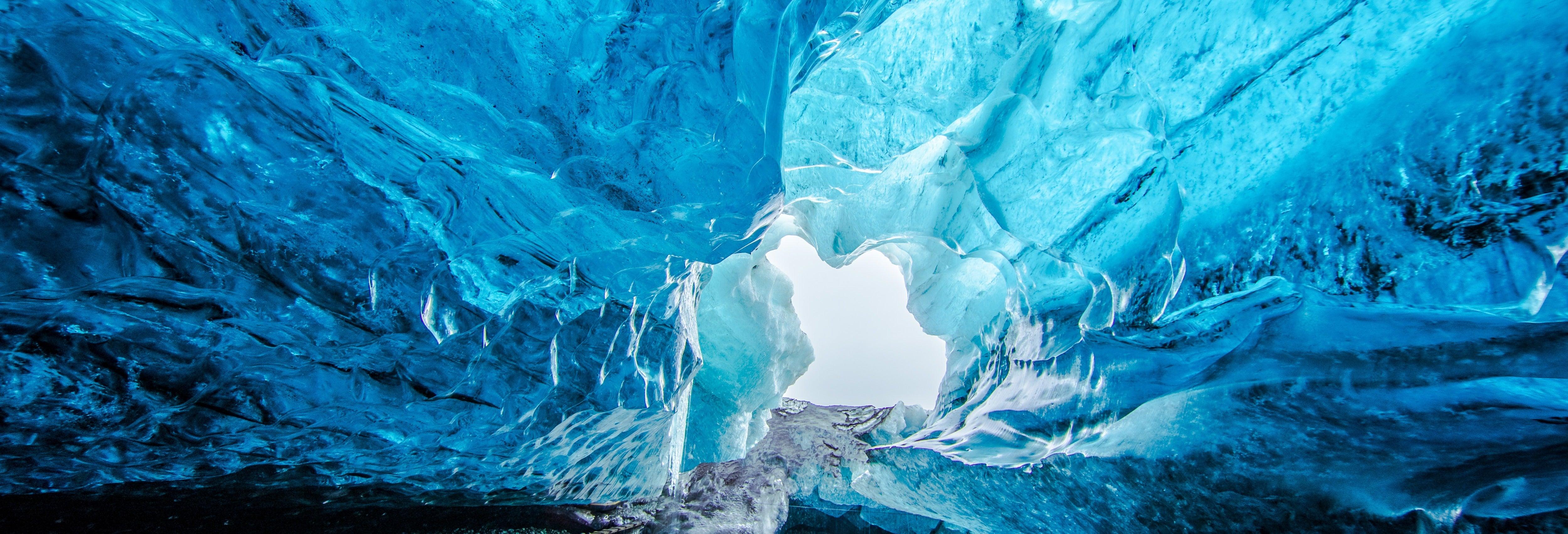 Excursion à la grotte bleue du glacier Vatnajökull