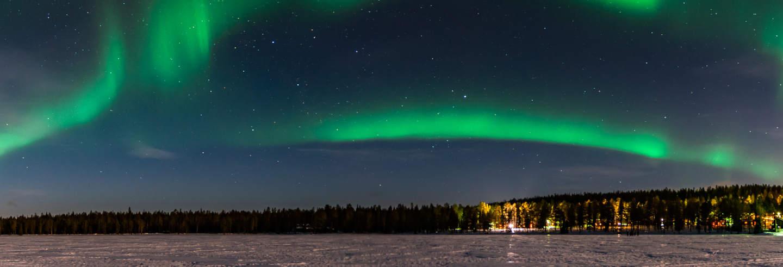 Visite autour des aurores boréales + Spa Laugarvatn Fontana