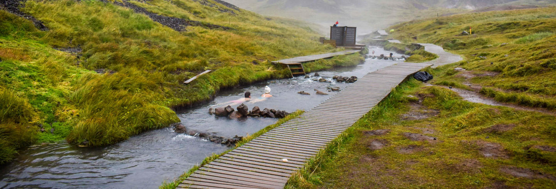 Trekking a las termas del río Reykjadalur