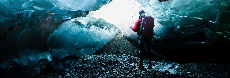 Trilha pelo glaciar Vatnajökull + Caverna de gelo azul