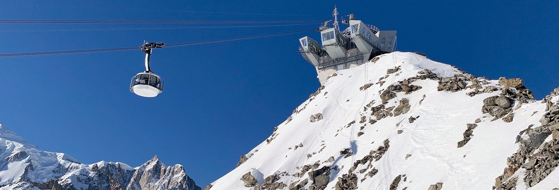 Entrada para el teleférico del Mont Blanc