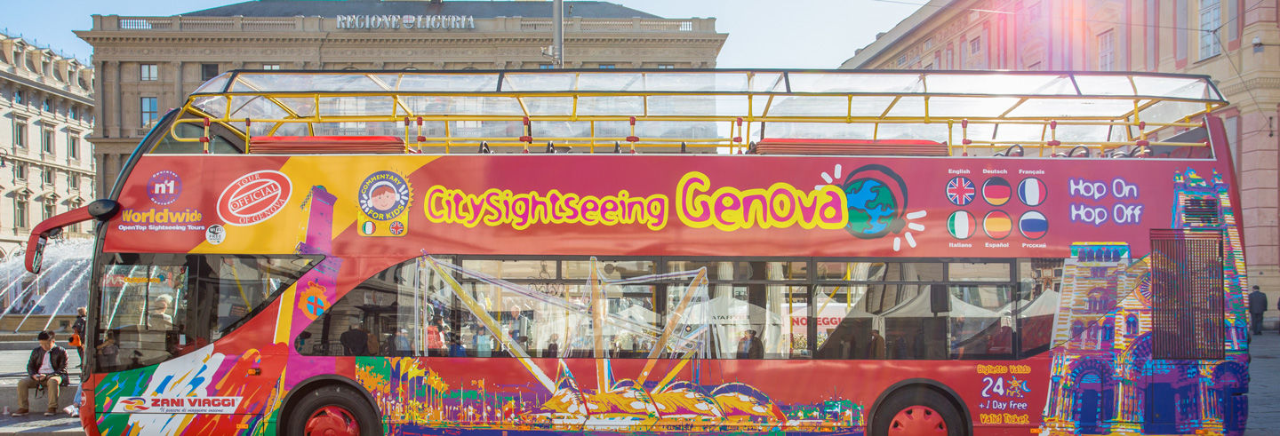 Bus touristique de Gênes