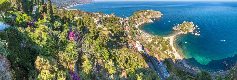 Paseo en barco por la costa de Taormina