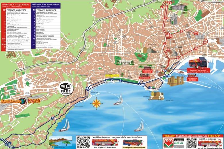 Mapa Turistico De Napoles.Autobus Turistico De Napoles City Sightseeing Civitatis Com