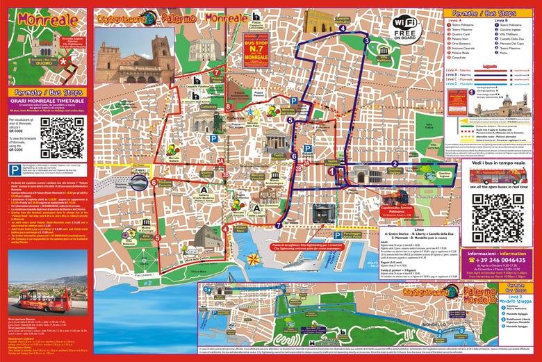 Mapa Turistico De Napoles.Autobus Turistico De Palermo Reserva Online En Civitatis Com
