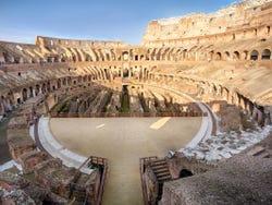 ,Coliseo,Colosseum,Foro Romano,Forum,Palatino,Palatine,Con arena de gladiadores