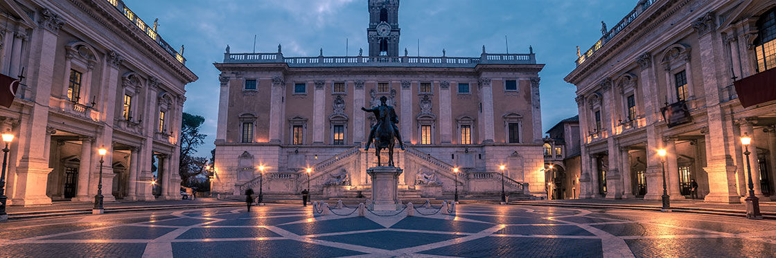 Piazza Del Campidoglio Square At The Top Of The Capitoline
