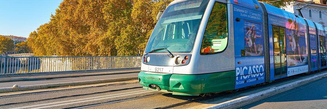 Tramway à Rome