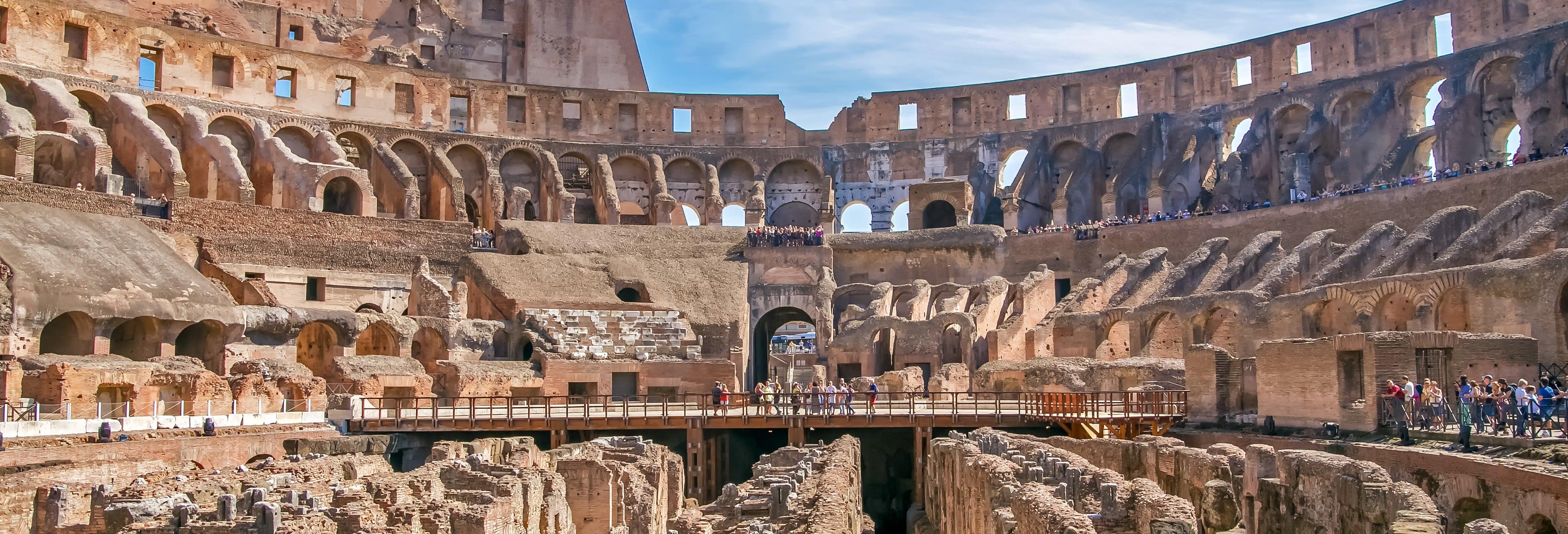 Subterrâneos do Coliseu e Arena + Fórum e Monte Palatino