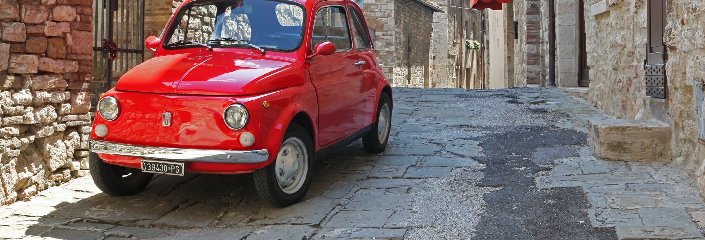 Vintage Fiat 500 Tour to Chainti