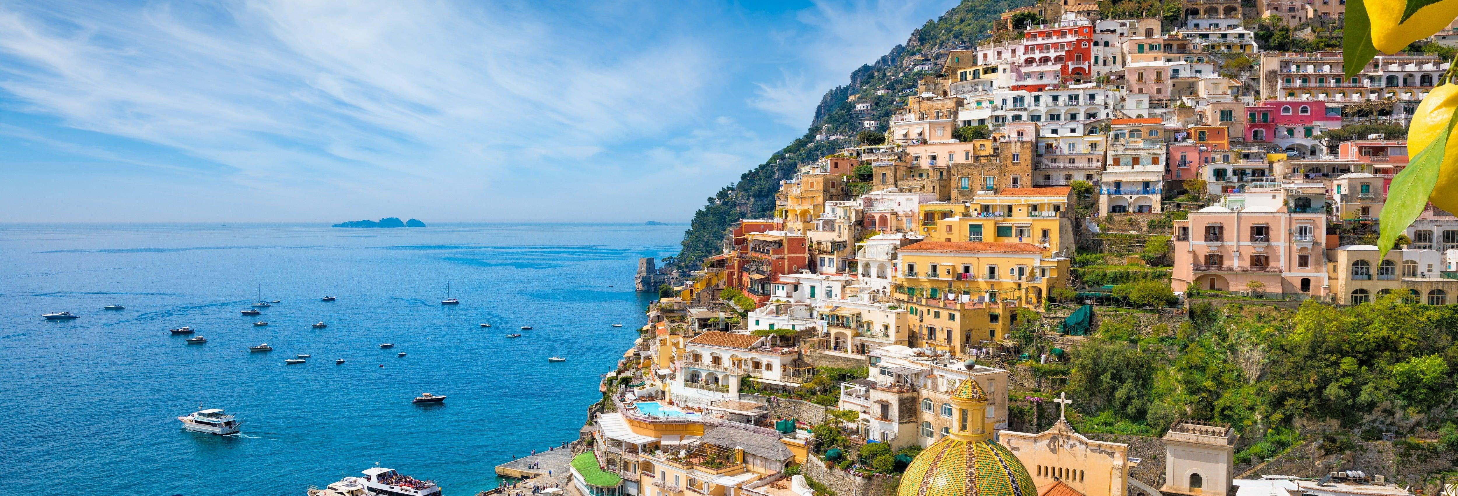 Excursão de barco pela Costa Amalfitana