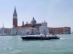 Boat leaving Venice