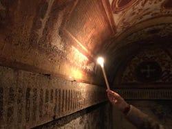 In the subterranean tunnels