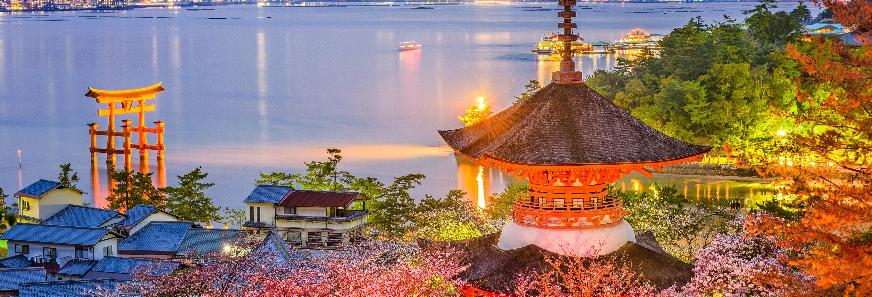 Tour noturno por Hiroshima