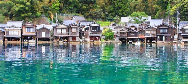 Amanohashidate, Miyama y casas flotantes de Ine