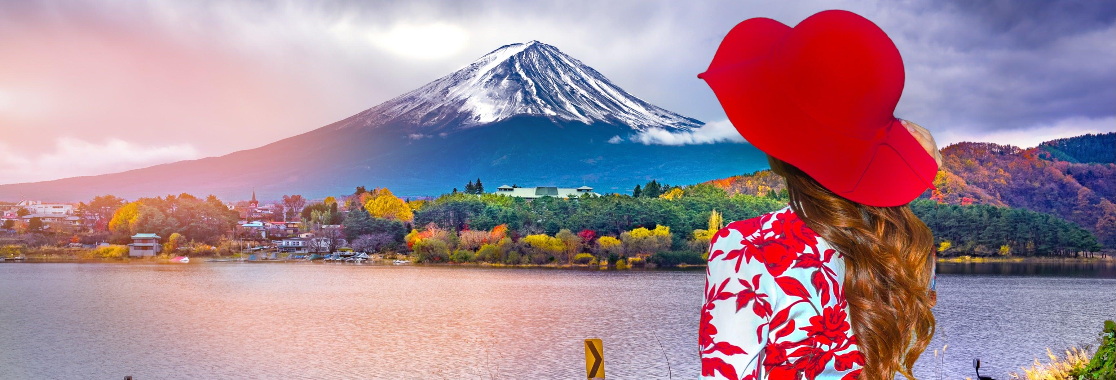 Monte Fuji, lago Kawaguchi e Gotemba Premium Outlets