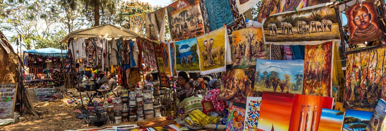 Tour de compras pelo mercado massai