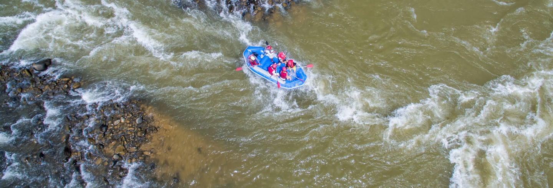 Rafting en el río Kiulu