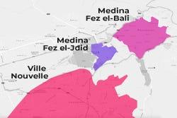 Bairros e zonas de Fez