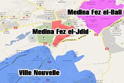 Barrios y zonas de Fez