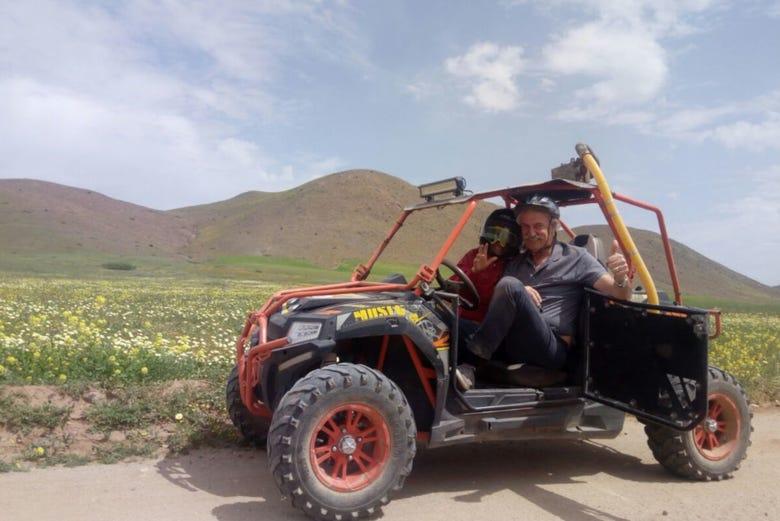 ,Paseo en buggy,Palmeral de Marrakech