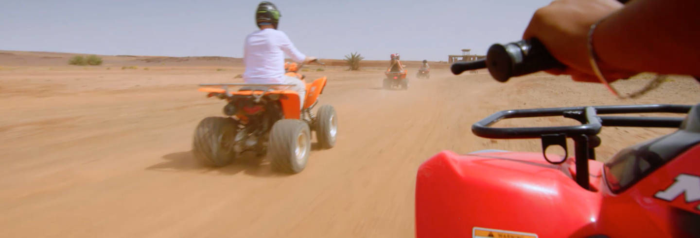 Tour in quad nel Palmeto di Marrakech