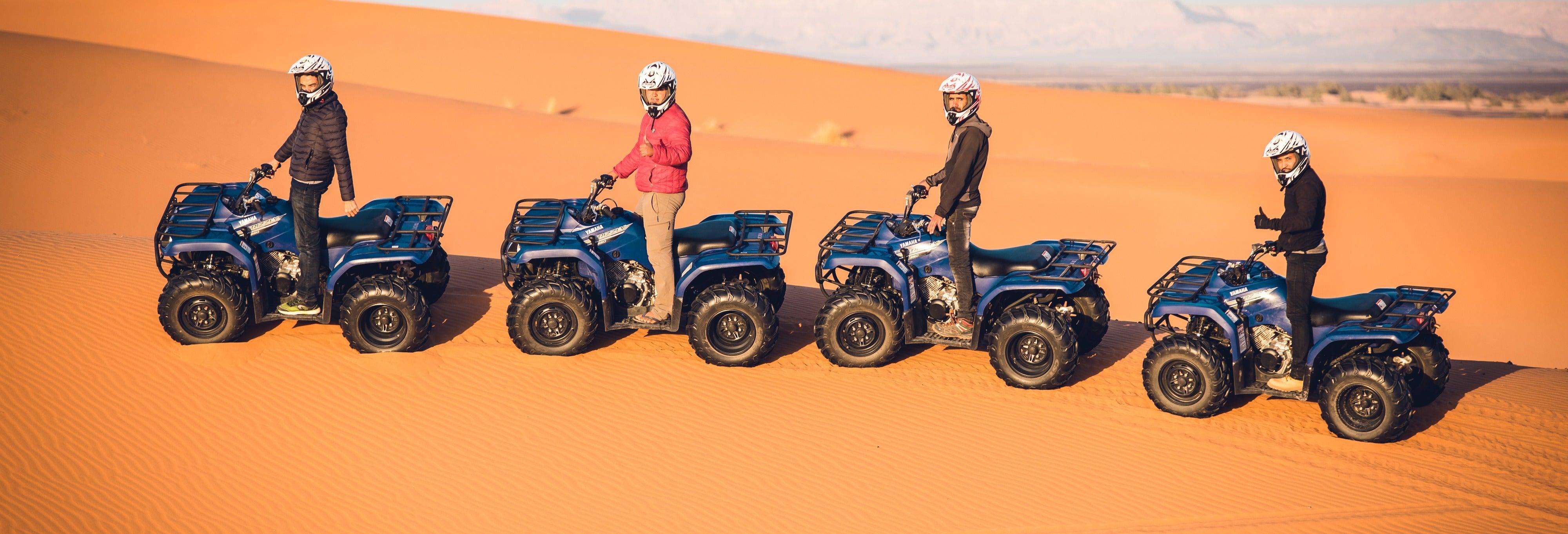 Tour de quadriciclo pelo deserto de Merzouga