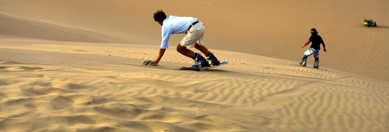 Sandboarding en las dunas de Chachalacas