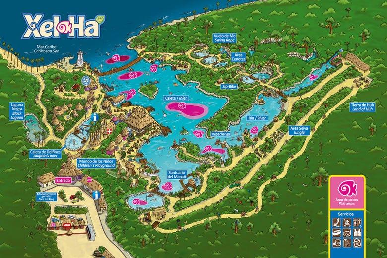 Map Of Xel Ha