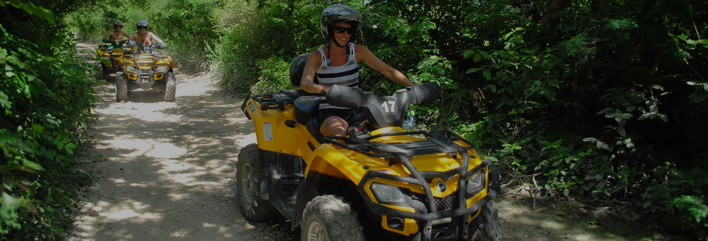 Tour en quad por la selva maya + Circuito de tirolinas