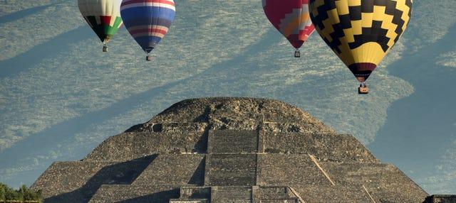 Paseo en globo sobre Teotihuacán