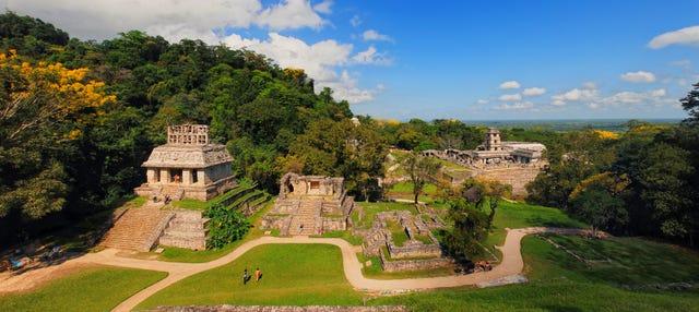 Entrada la zona arqueológica de Palenque