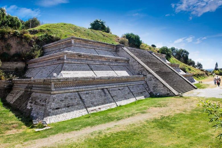 Base de la pirámide de Cholula.