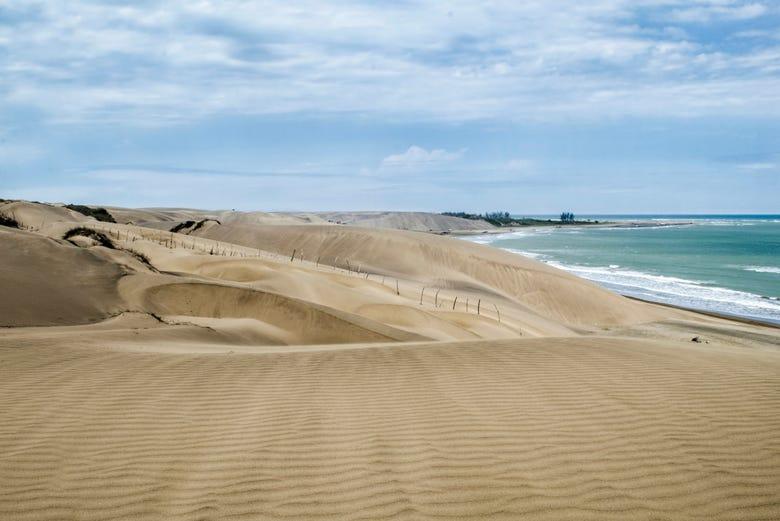 A lo largo de Playa Chachalacas se encuentran diversos restaurantes.