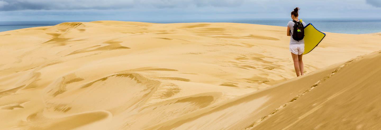 Sandboarding sulle dune di Chachalacas