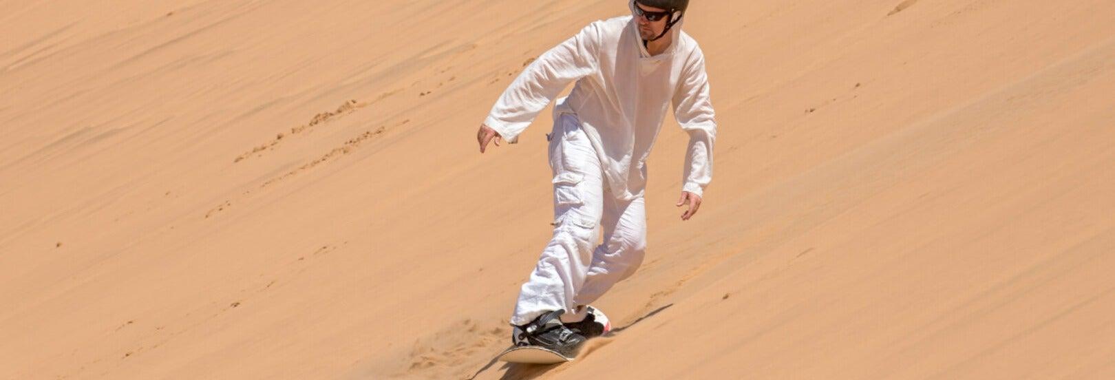 Sandboarding in the Namib